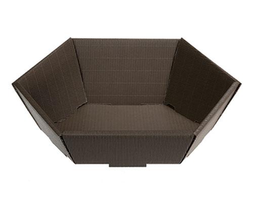 Basket hexa medium L305xW258mm front H75mm/ back H130mm brown
