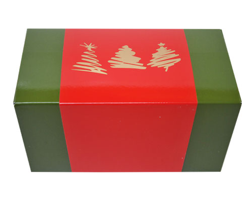 Ballotin 3 xmastree / sleeve 1000 gr. greenred