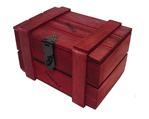 crate wood appr. 250 gr contents  red