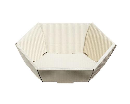 Basket hexa mini L200xW168mm front H48mm/ back H85mm creme