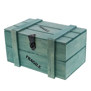 crate wood appr. 250 gr contents Cyaanblue