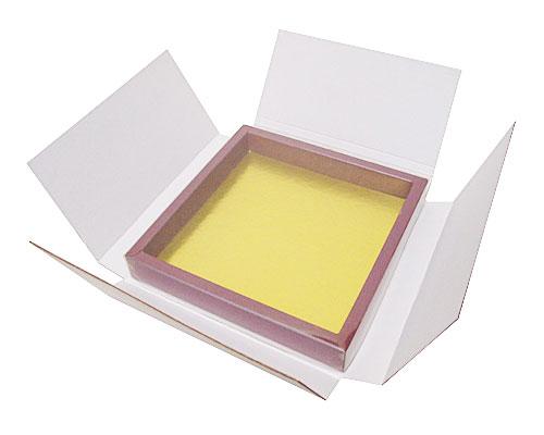 Boîte pour envoyer, pour la  boîte 175x175x25mm avec couvercle transparante