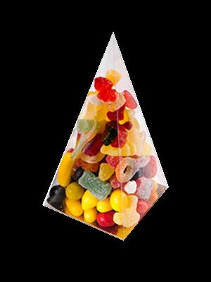 Boîte chocolat PVC Pyramide