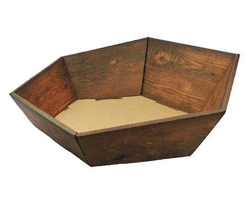Basket hexa medium L305xW258mm front H75mm/ back H130mm vintage