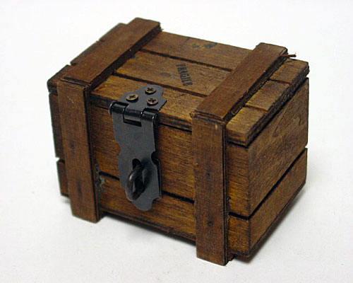 Crate Wood small, brown