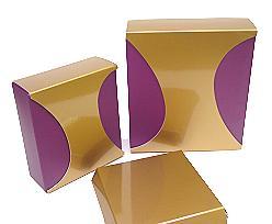 Box Dali small Duo Djerba purple copper