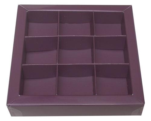 Windowbox 100x100x19mm 9 division fig