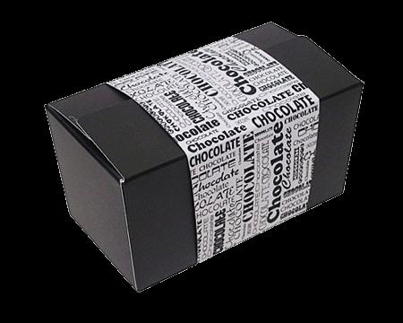 Boîte chocolat Black & white 'Chocolat'
