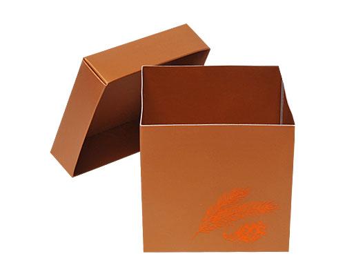 Cubebox Autumn figures 500 gr. hazelnut
