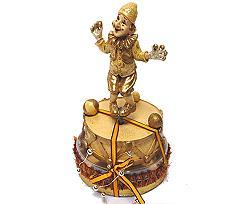clown musicbox, gold