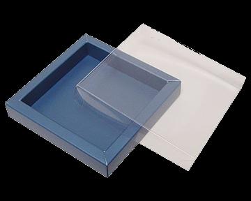 Boîte chocolat carton en combinaison avec matériel transparant