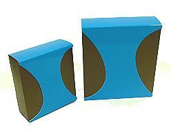Box Dali small Duo Kreat brown blue