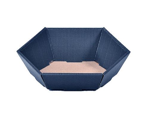 Basket hexa mini L200xW168mm front H48mm/ back H85mm saffier